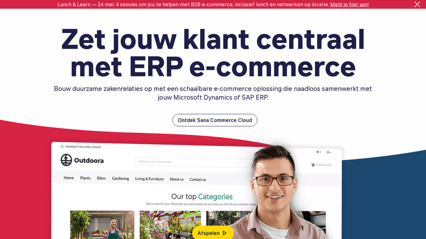 Sana Commerce Landing Page