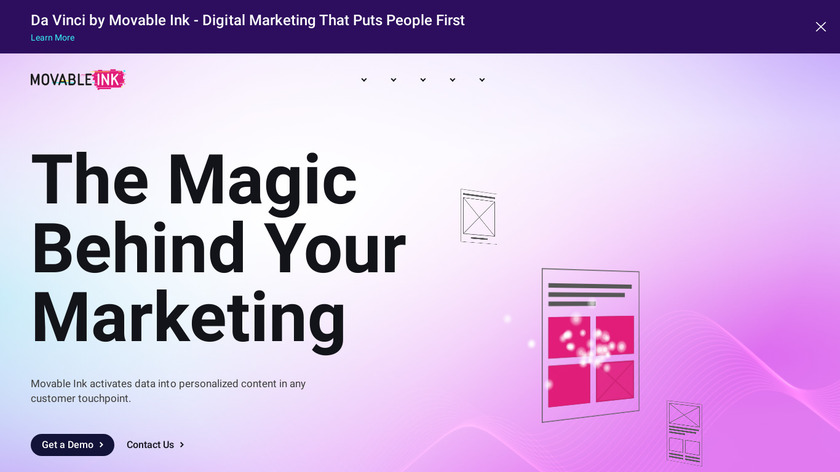 Movable Ink Landing Page
