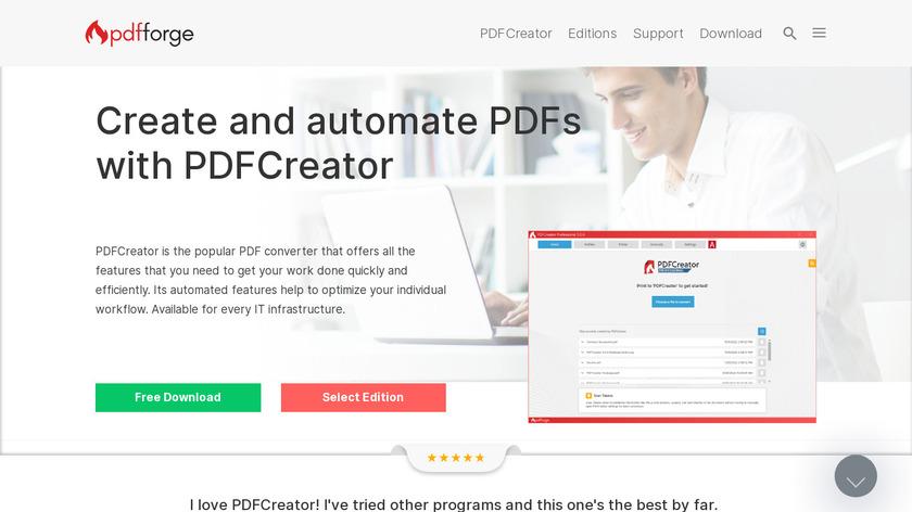PDFCreator Landing Page