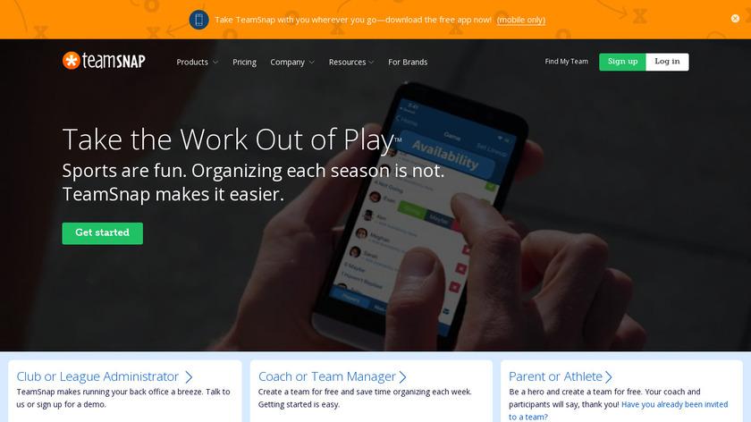 TeamSnap Landing Page