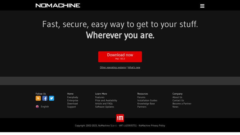NoMachine Landing Page