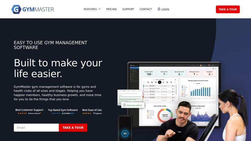 GymMaster Landing Page