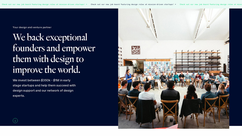 DesignerFund Landing Page