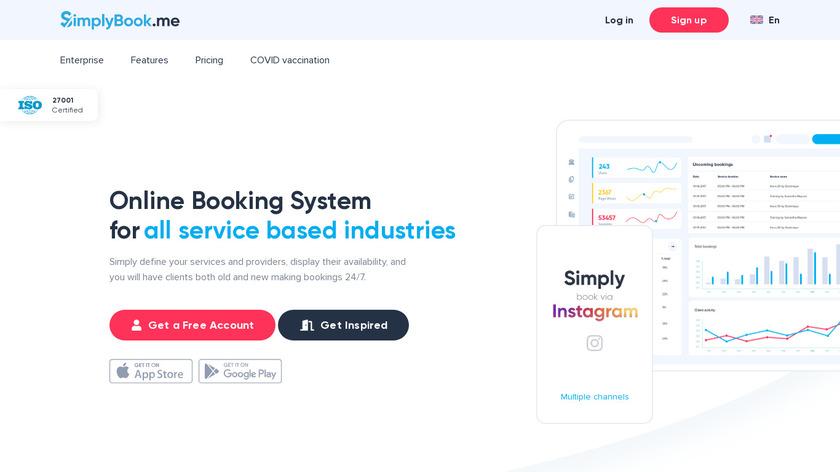 SimplyBook.me Landing Page