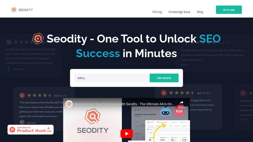 Seodity Landing Page