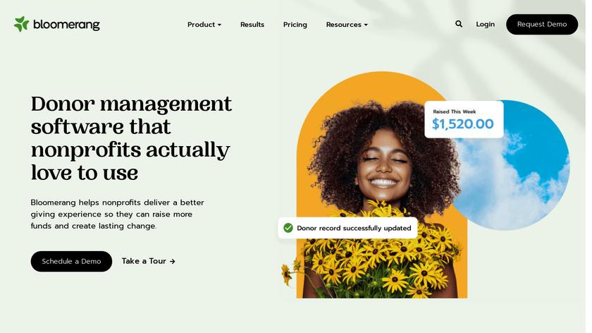 Bloomerang Landing Page