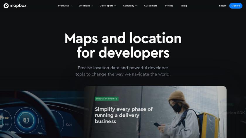 Mapbox Landing Page