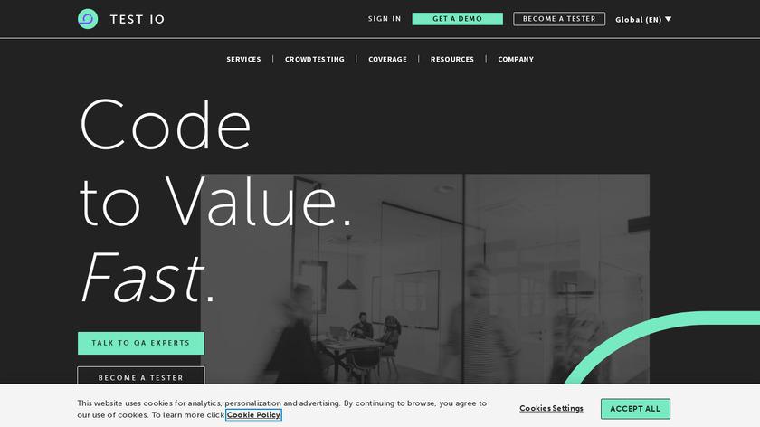 test IO Landing Page