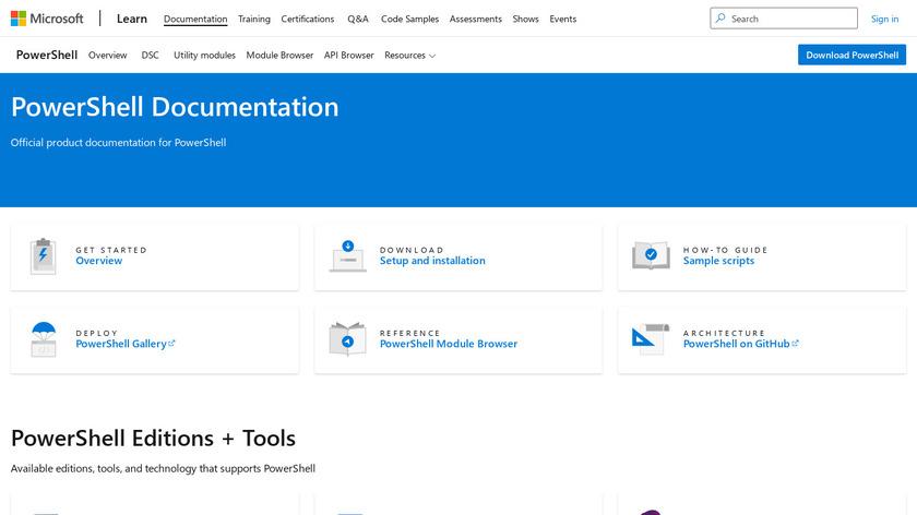 PowerShell Landing Page