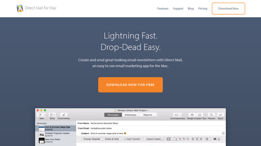 Direct Mail Landing Page