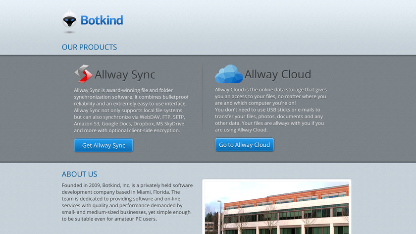 Allway Sync Landing Page