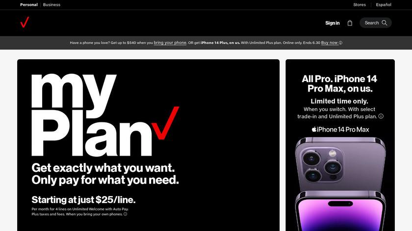 Verizon Cloud Landing Page