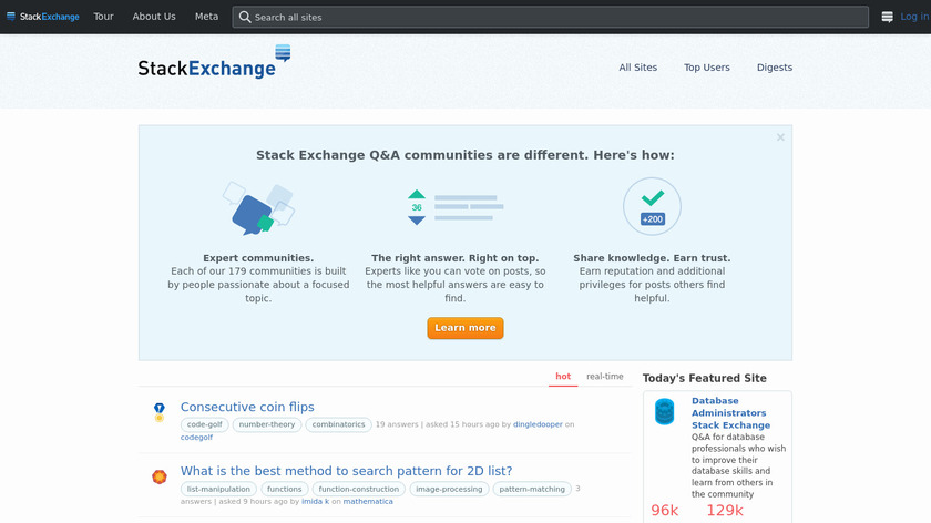 Stack Exchange Landing Page