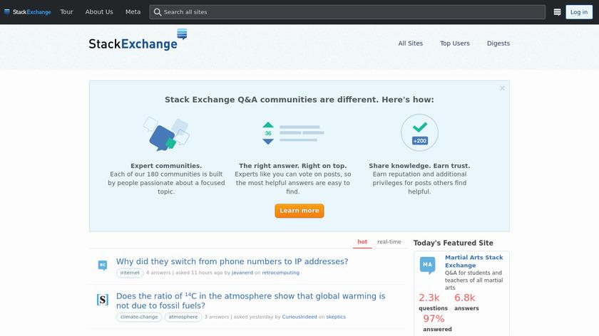 Stack Exchange Landing Page