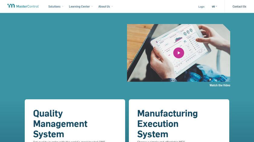 MasterControl Landing Page