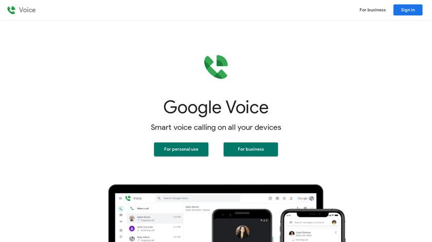 Google Voice Landing Page