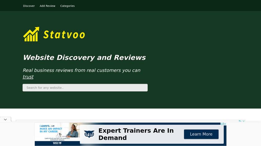 Statvoo.com Landing Page
