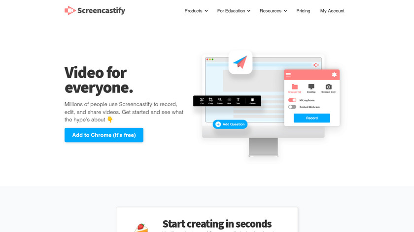 Screencastify Landing Page