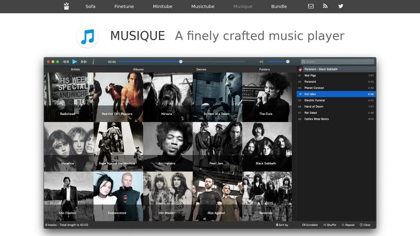 Musique Landing Page
