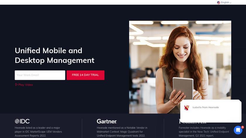 Hexnode MDM Landing Page