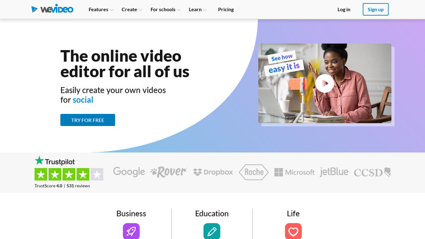 WeVideo Landing Page