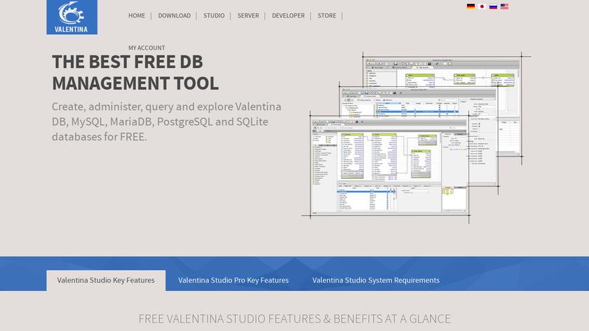 Valentina Studio Landing Page