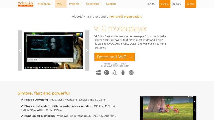 VLC Media Player Landing Page