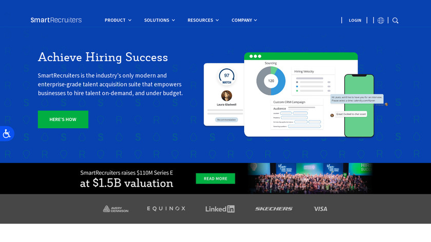 SmartRecruiters Landing Page