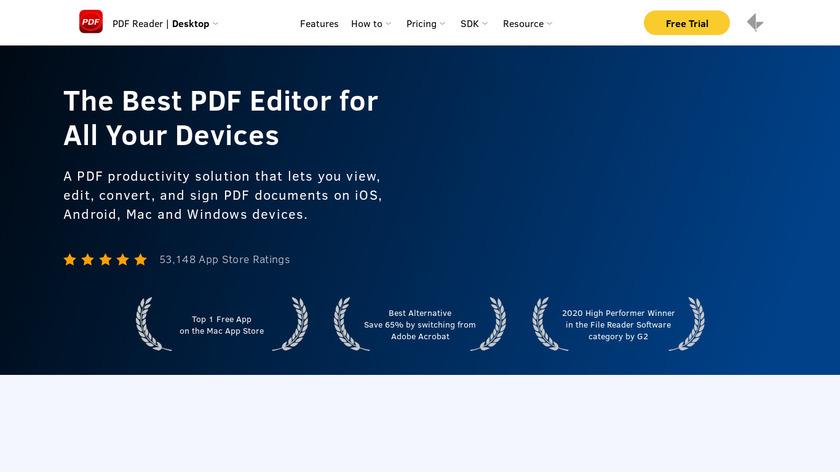 KDAN Mobile PDF Reader Landing Page