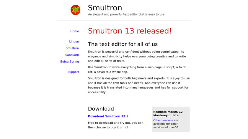 Smultron Landing Page