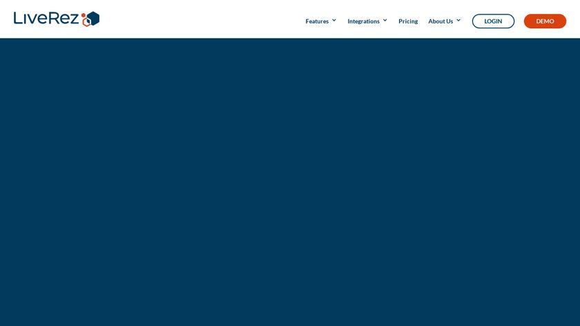 LiveRez Landing Page