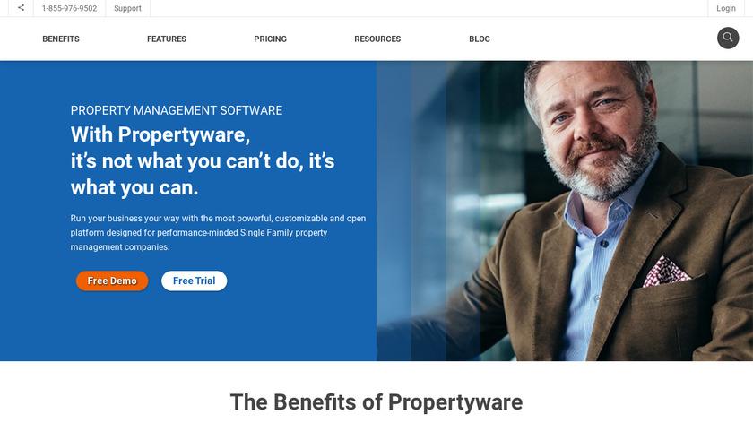 Propertyware Landing Page