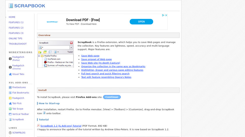 ScrapBook Landing Page