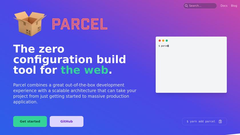 Parcel Landing Page