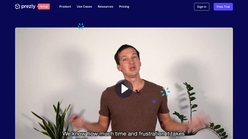 Prezly Landing Page