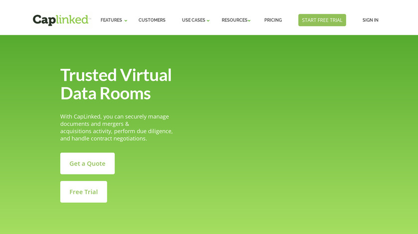 CapLinked Landing Page