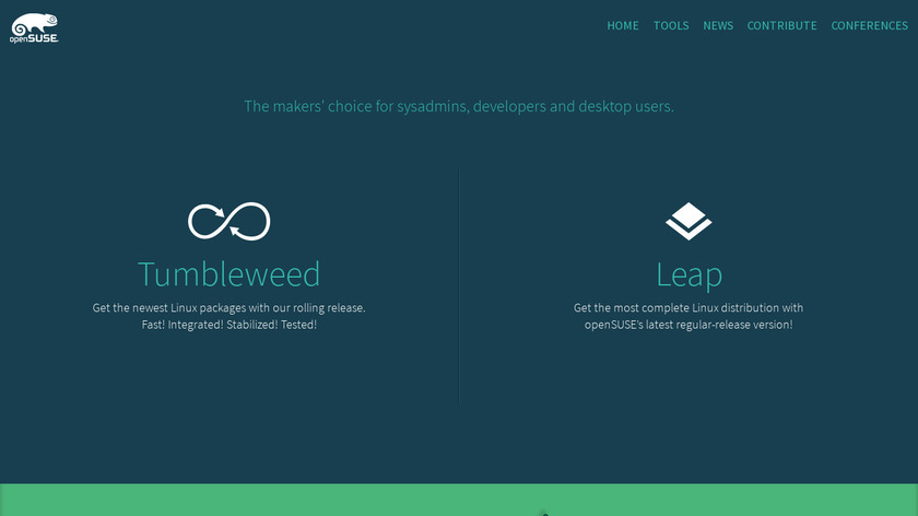 openSUSE Landing Page