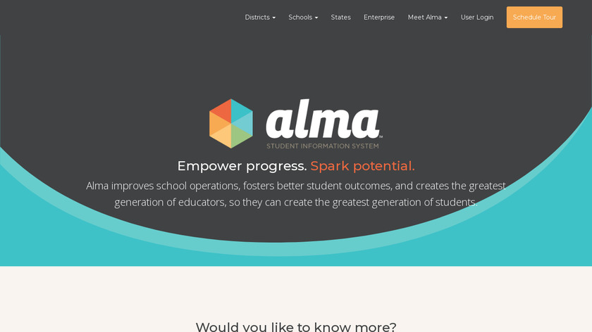 Alma Landing Page