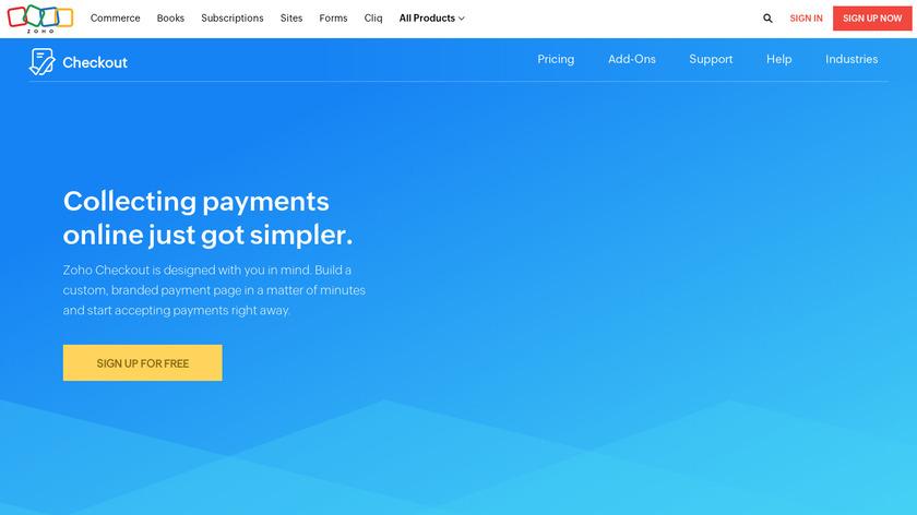 Zoho Checkout Landing Page