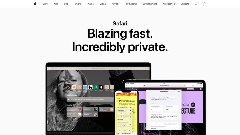 Safari Landing Page