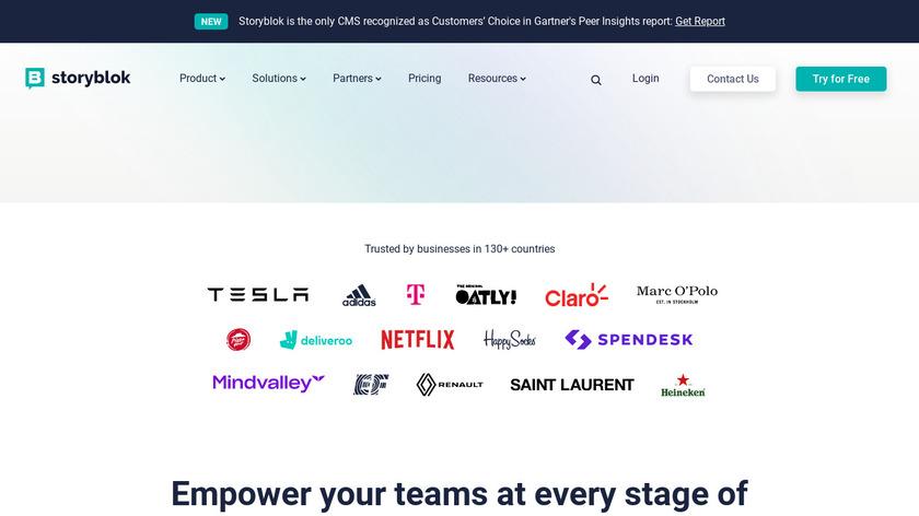 Storyblok Landing Page