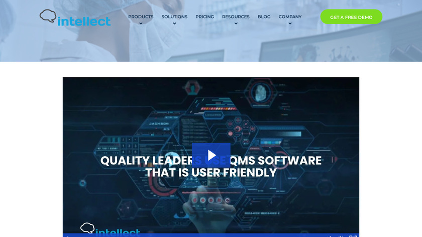 Intellect Landing Page