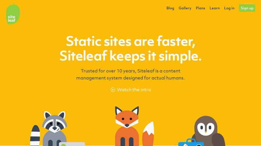 Siteleaf Landing Page