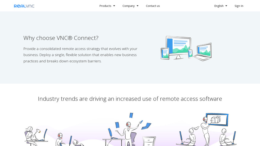 VNC Connect Landing Page