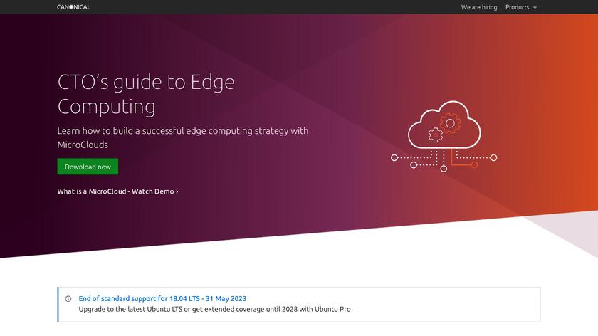Ubuntu Landing Page
