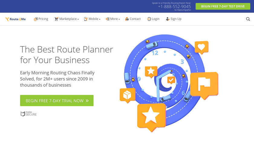 Route4Me Landing Page