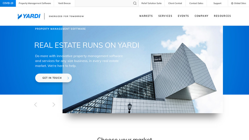 Yardi Voyager Landing Page