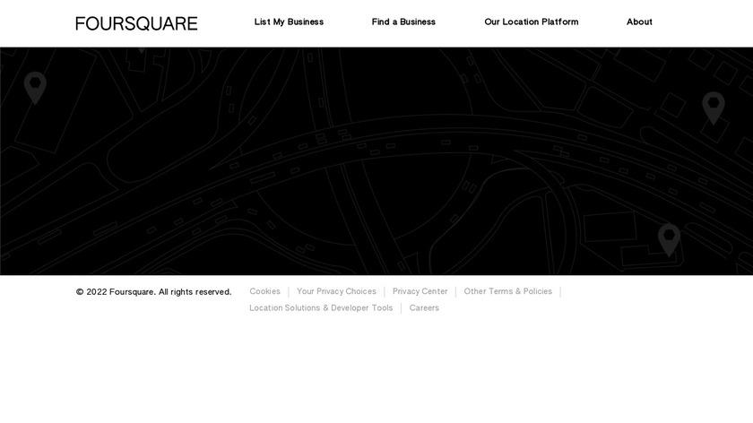 Foursquare Landing Page