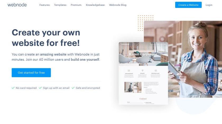 Webnode Landing Page