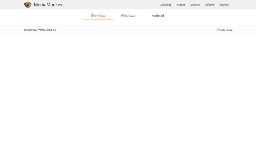 MediaMonkey Landing Page